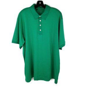 Adidas ClimaLite Mens Large Polo Golf Shirt Green